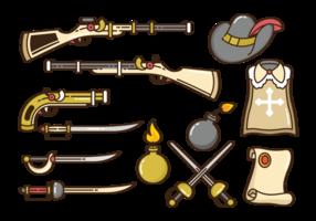 Vetor dos ícones do mosqueteiro