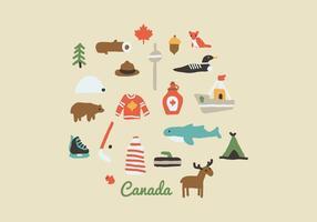 Elementos canadenses vetor