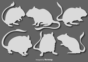 Conjunto de vetores do mouse gerbil