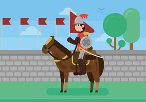 Ilustração da cavalaria