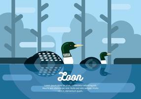 Ilustração de Loon vetor