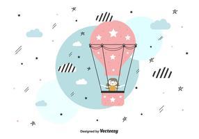 Fundo do vetor do balão de ar quente