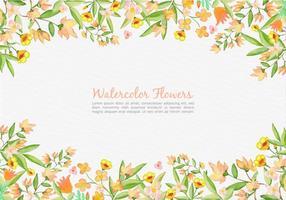 Vetor livre pintado de flores de laranja fundo