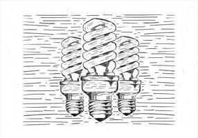 Ilustração vetorial livre da lâmpada desenhada mão do vetor