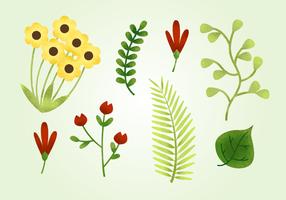 Elementos naturais livres granulados vetor