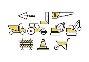 Vector de ícone de linha de construção grátis