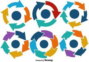 Gráficos vetoriais do ciclo de vida vetor