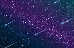 galáxia via láctea céu noturno vetor