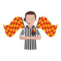 árbitro de futebol cartoon