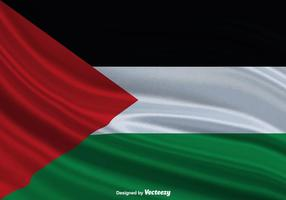 Bandeira ondulada da bandeira de Gaza Bandeira ondulada vetor