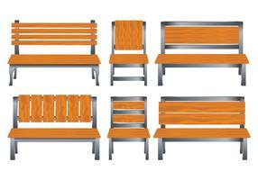 Conjunto de vetores de cadeira de gramado definido