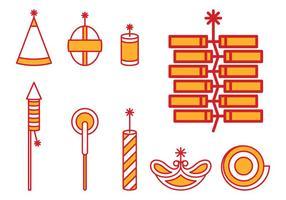 Cravos de Diwali vetor