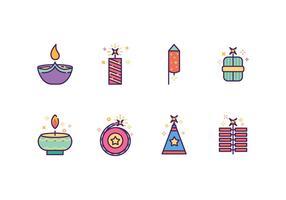Ícones gratuitos de Diwali vetor