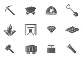 Ícones de Mineração vetor