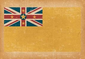 Bandeira grunge de niue vetor