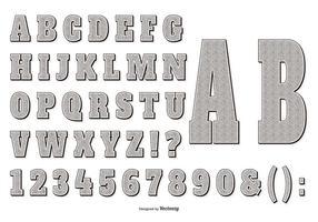 Cobrança retro do alfabeto do estilo Gravure