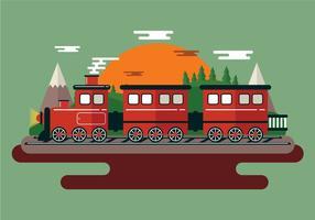 Ilustração do trem de vapor