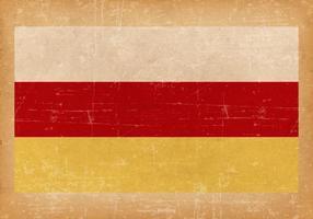 Bandeira de Grunge da Ossétia do Norte vetor