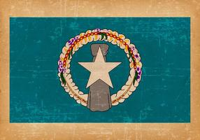 Bandeira do Grunge das Ilhas Marianas do Norte vetor
