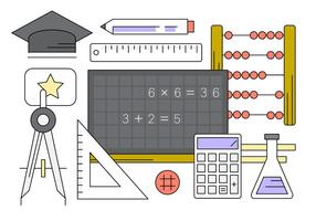 Coleção de vetores educacionais grátis