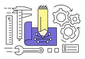 Coleção gratuita de vetores de engenharia