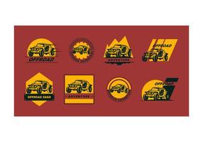 Coleção livre de vetores do logotipo offroad