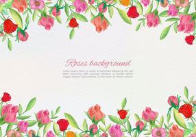 Mão vetorial livre desenhar cartão floral