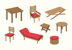 Vector de cadeira de gramado