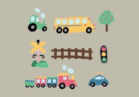 Desenhos de transporte vetor