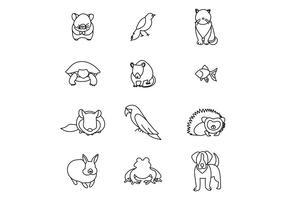 Conjunto de animais de estimação vetor