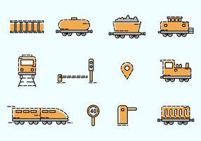 Ícone do transporte ferroviário vetor