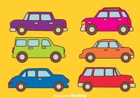 Vetor de coleção de carros coloridos