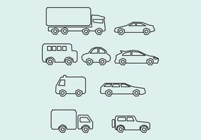 Carros geométricos vetor