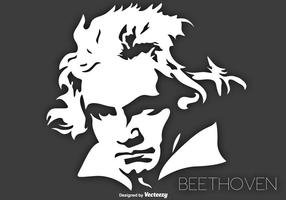 Vector Retrato do músico Ludwig Van Beethoven