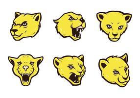 Vetor grátis da mascote Cougars