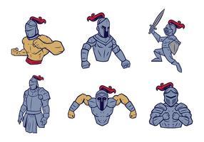Vetor grátis da mascote dos cavaleiros