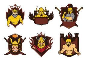 Vetor de mascote emblema de guerreiros