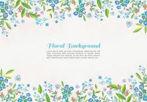 Fundo de flores azuis de aquarela de vetor grátis