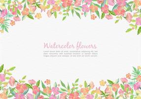 Cartão floral rosa floral aquarela para casamento vetor