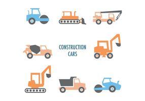 Conjunto De Carros De Construção Coloridos vetor
