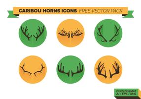 Ícones de chifres de caribes pacote de vetores grátis
