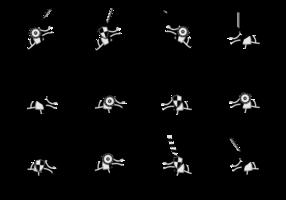 Vector de silhuetas de cavalaria