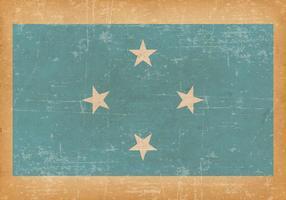 Bandeira grunge da micronésia vetor