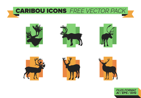 Ícones Caribou Pacote de vetores grátis