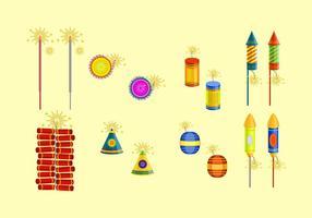 Livre Diwali Fire Crackers Vector