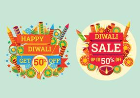 Foguete colorido para celebrar a venda de Diwali vetor