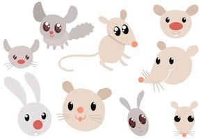 Livre vetores de roedores bonitos
