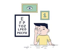 Vetor de teste de olho livre