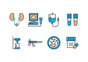 Ícones gratuitos de urologia vetor