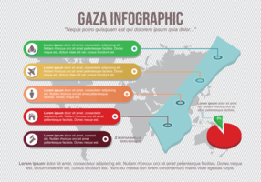 Infografia de Gaza vetor